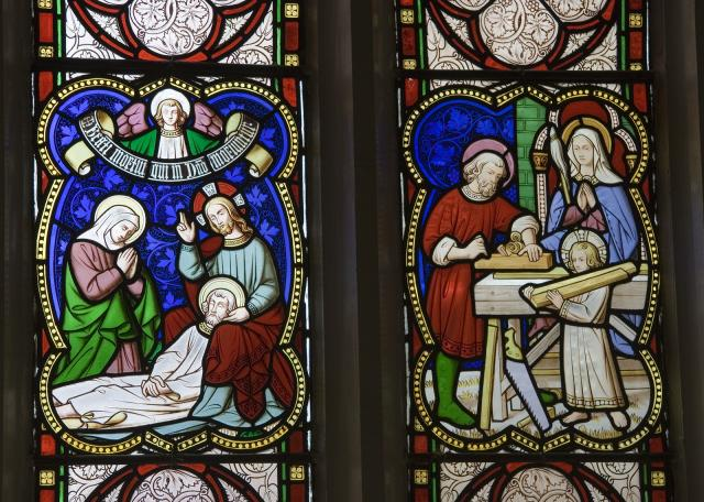 Death of St Joseph and the Holy Family in the Carpenter's Workshop