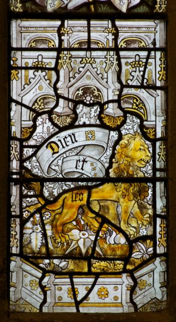 Lion    detail from    The Crucifixion with the Adoration of the Magi