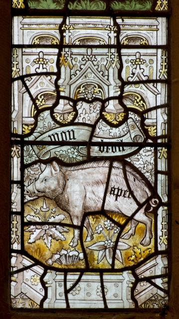 Boar    detail from    The Crucifixion with the Adoration of the Magi