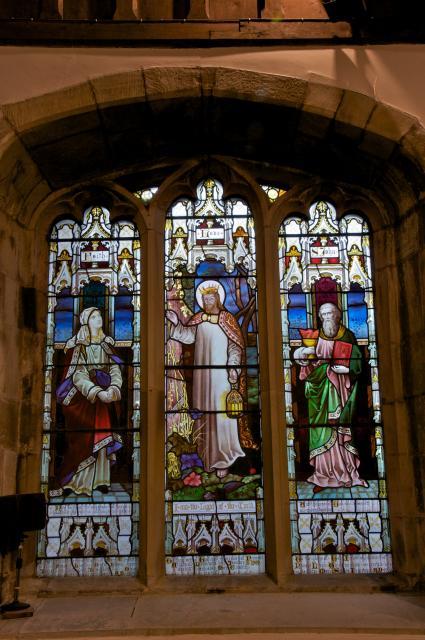The Light of the World with Faith and St John