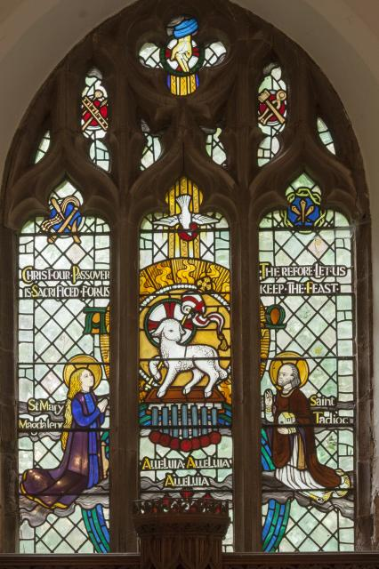 Agnus Dei Adored by St Mary Magdalene and St Tadioc