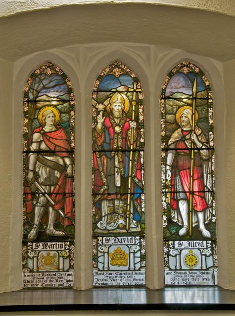 St David with St Martin and St Illtud