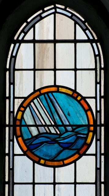 Rain over the Sea    detail from    Christian Symbols
