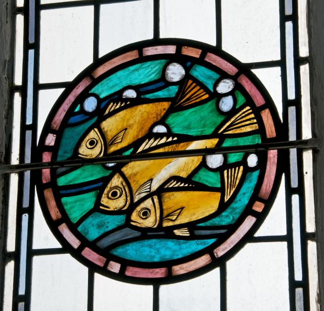 Fish    detail from    Christian Symbols