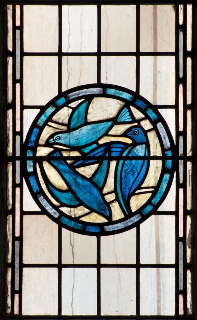 Doves    detail from    Christian Symbols