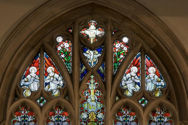 Tracery Lights    detail from    The Ascension with the Four Evangelists
