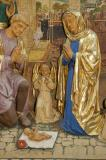 The Adoration of the Christ-child: The Nativity with the Annunciation and Mourning over the Dead Christ