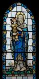 Virgin and Child: Virgin and Child with St Illtud