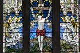 Crucifixion with Angels: The Crucifixion with Virgin Mary, St John and St Mary Magdalene, and Welsh Saints