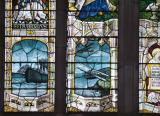 Scenes from the First World War: The Crucifixion with Virgin Mary, St John and St Mary Magdalene, and Welsh Saints