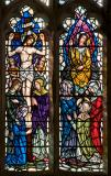 The Crucifixion and the Angel Greeting the Three Women at the Empty Tomb: Scenes from the Life of Christ with Apostles and Archangels