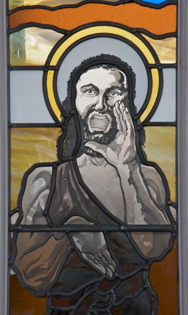 St John the Baptist    detail from    St John the Baptist and St Francis