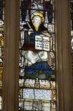 St John the Evangelist: The Crucifixion with Soldier Saints and Virtues