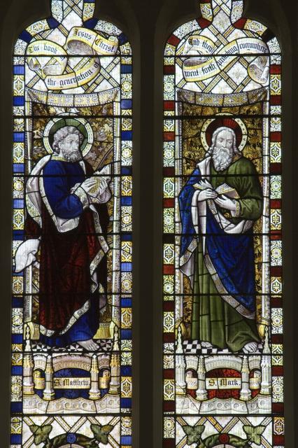 St Matthew the Evangelist and St Mark the Evangelist    detail from    The Four Evangelists