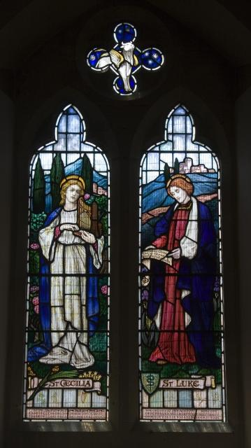St Cecilia and St Luke