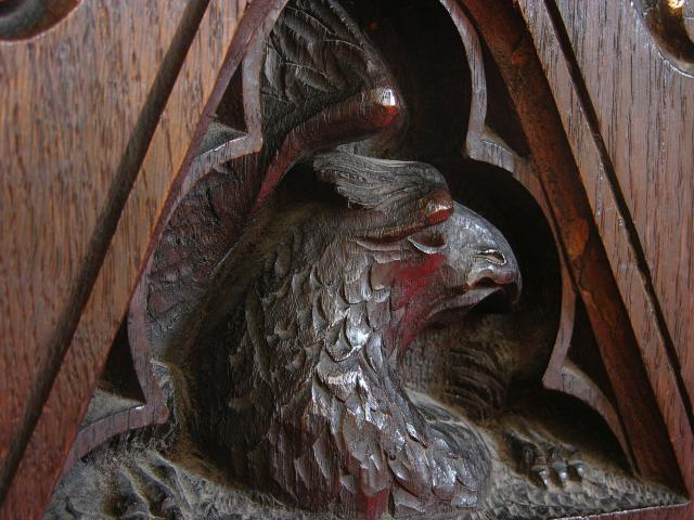 Eagle, Symbol of St John    from    Choirstall Carvings