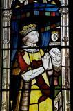 Kneeling Figure: St Michael Slaying a Red Dragon