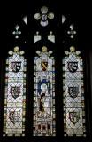 St Dunawd with Heraldry