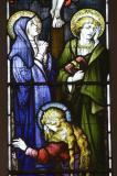 The Virgin Mary, St John and St Mary Magdalene at the Foot of the Cross: The Crucifixion with the Adoration of the Shepherds and the Resurrection