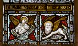 Symbols of St Matthew and St Mark: Christ in Majesty with Saints and Angels