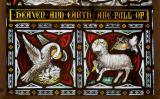 Pelican in Her Piety and Agnus Dei: Christ in Majesty with Saints and Angels