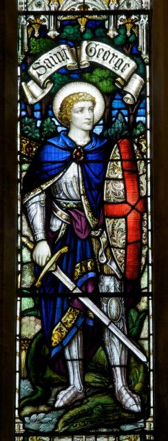 St George    detail from    Receiving the Crown of Life with St George and St Martin