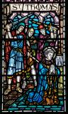 The Martyrdom of St Thomas à Beckett: Christ in Majesty with St Thomas Becket and St Nicholas