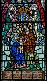 The Holy Family with Angels: Christ in Majesty with St Thomas Becket and St Nicholas