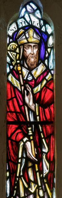 St Teilo    detail from    St Teilo and St Margaret of Scotland