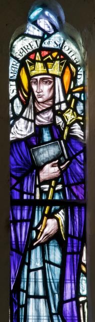 St Margaret of Scotland    detail from    St Teilo and St Margaret of Scotland