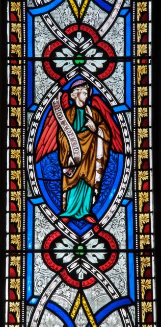 Memorial Window with an Angel