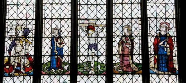The Crucifixion with the Virgin Mary, St John, St Michael and St Peter