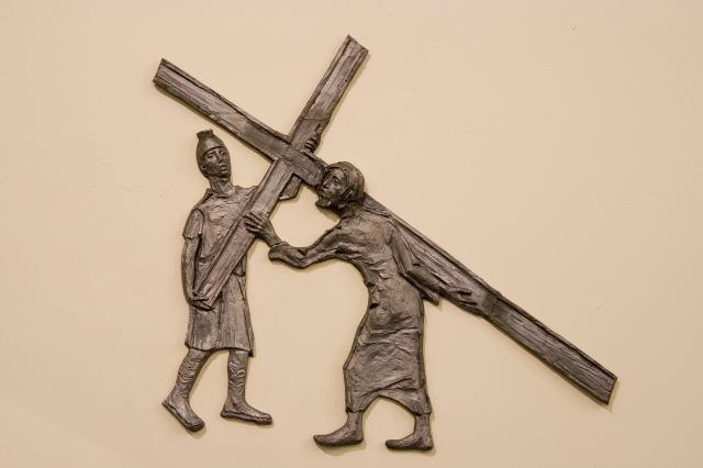 Jesus Receives the Cross    from    Stations of the Cross