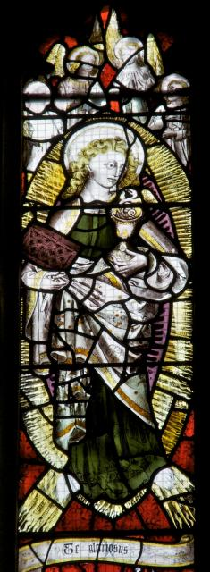 St John the Evangelist    detail from    Te Deum and Tree of Jesse