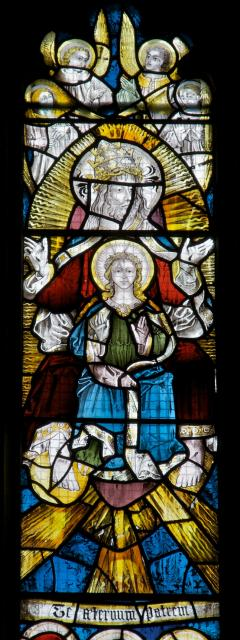 Christ with the Virgin Mary    detail from    Te Deum and Tree of Jesse