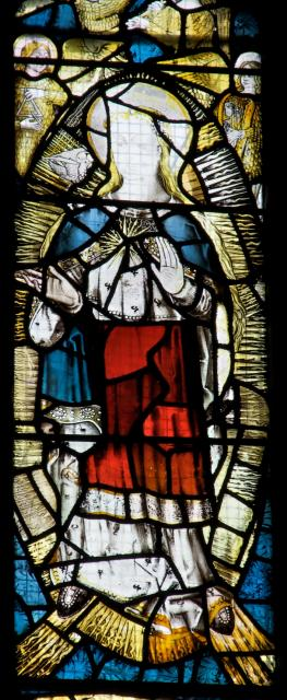 Virgin Mary    detail from    Te Deum and Tree of Jesse