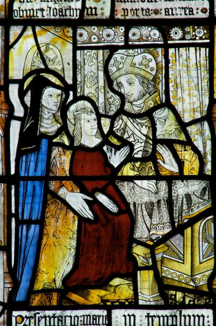The Presentation of the Virgin Mary in the Temple    detail from    Scenes from the Life of St Anne and the Virgin Mary