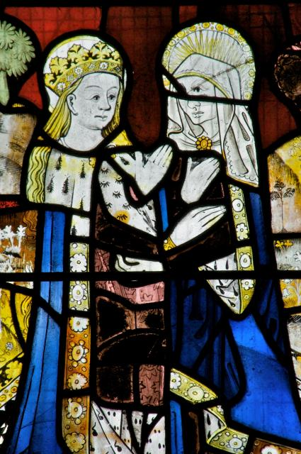 The Visitation    detail from    Scenes from the Life of St Anne and the Virgin Mary