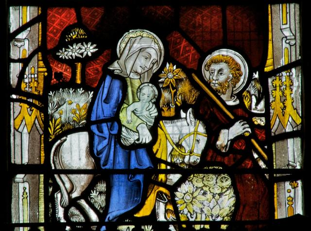 The Flight into Egypt    detail from    Scenes from the Life of St Anne and the Virgin Mary