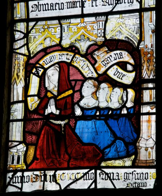 The Donor's Wife and Daughters    detail from    Scenes from the Life of St Anne and the Virgin Mary