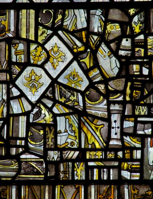 Medieval Fragments    detail from    The Crucifixion with Panels from the Seven Sacraments