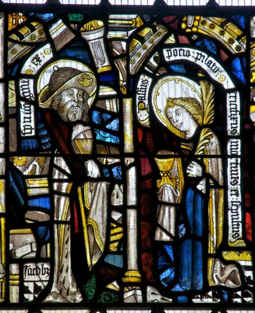 St James and St John    from    The Crucifixion with Panels from the Seven Sacraments