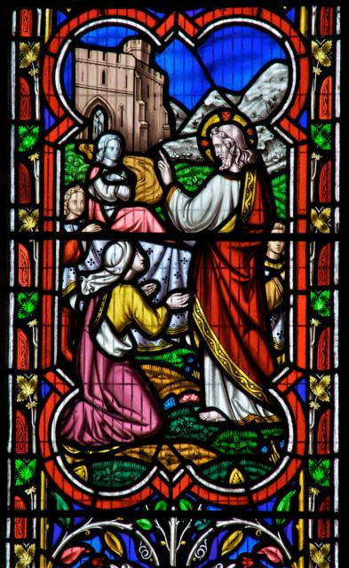 Salome with Christ, James and John    detail from    Scenes from the New Testament