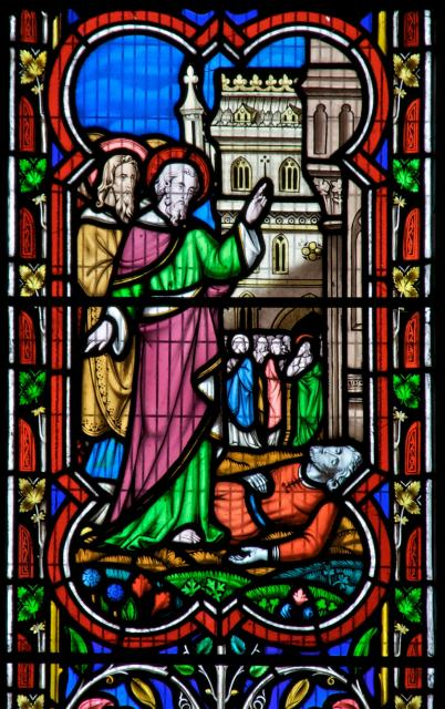 The Healing of the Lame Beggar at the Beautiful Gate    detail from    Scenes from the New Testament