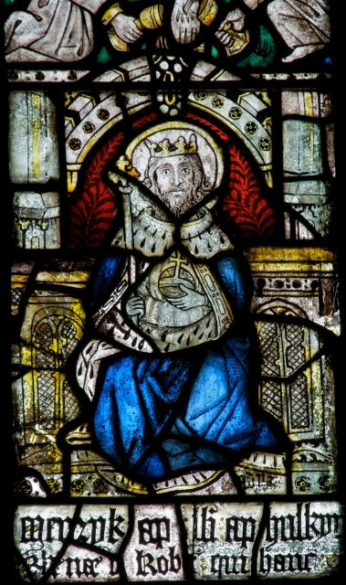 King Cadwaladr    detail from    The Crucifixion with the Virgin Mary and St John