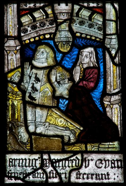 Owain ap Meurig and Elin ferch Robert    detail from    The Crucifixion with the Virgin Mary and St John