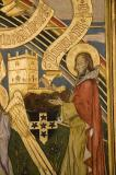 Christ with St David, St James and Angels