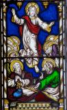 The Ascension: Scenes from the Life of Christ with Women Performing Acts of Mercy