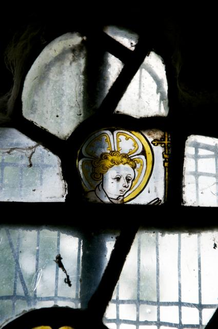 Head of the Christ-child    detail from    Medieval Fragments including the Holy Trinity
