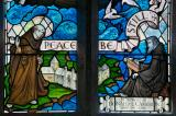 St Seriol and St Cybi: Christ Calming the Storm with St Seiriol and St Cybi